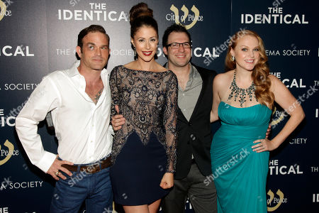 "From left, actor Waylon Payne, actress Amanda Crew, director Dustin Marcellino and actress Erin Cottrell, right, attend the premiere of ""The Identical"" on in New York"