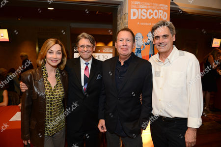 """Stock Image of From left, Sharon Lawrence, Scott Carter, Garry Shandling and Randall Arney attend the opening night of """"Discord"""" at The Geffen Playhouse on in Westwood, Calif"""