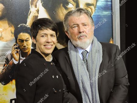 "Stock Image of Director Walter Hill and wife Hildy Gottlieb attend the ""Bullet To The Head"" premiere at AMC Lincoln Square on in New York"