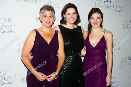 Wendy Levy, left, Toby Boshak and Tiler Peck attend the Princess Grace Awards Gala on in New York