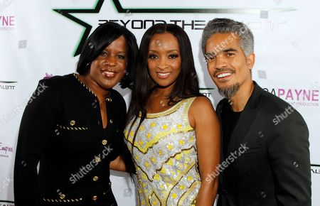 """Roslyn M. Brock, NAACP Chairman of the National Board of Directors, Jennia Fredrique and Sol Aponte seen at Private Screening of """"Beyond the Talent"""", on at Smoke & Mirrors in West Hollywood. California"""
