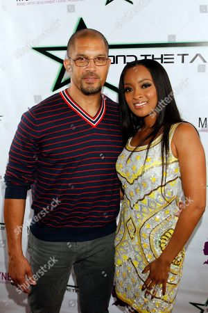 """Actor Terrell Tilford and event host Jennia Fredrique seen at her Private Screening of """"Beyond the Talent"""", on at Smoke & Mirrors in West Hollywood. California"""
