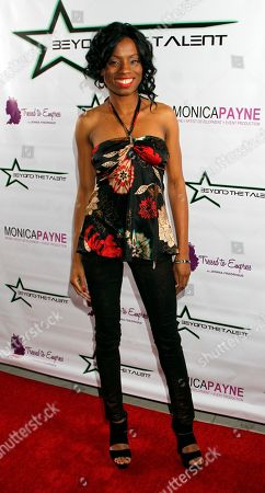 """Stock Image of Actress Angelique Bates seen at Private Screening of """"Beyond the Talent"""", on at Smoke & Mirrors in West Hollywood. California"""