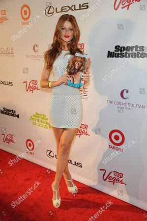 Cintia Dicker attends the Sports Illustrated Swimsuit On Location party at Marquee Nightclub on in Las Vegas