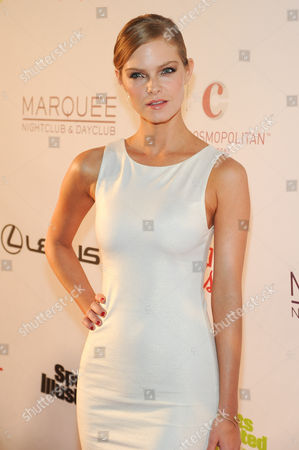 Jessica Perez attends the Sports Illustrated Swimsuit On Location party at Marquee Nightclub on in Las Vegas