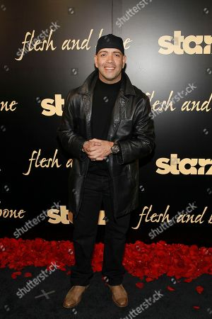 Stock Photo of Luis Antonio Ramos seen at the NYC premiere of Starz's original limited series Flesh and Bone at the NYU Skirball Center for the Performing Arts on in New York