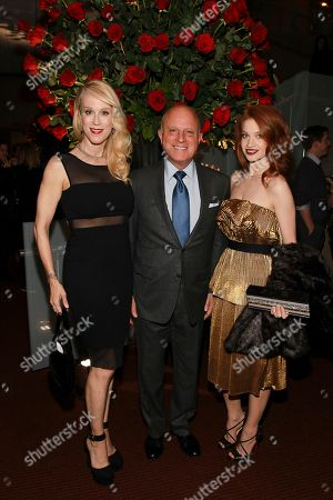 Moira Walley-Beckett, Chris Albrecht, Sarah Hay seen at the NYC premiere of Starz's original limited series Flesh and Bone at the NYU Skirball Center for the Performing Arts on in New York