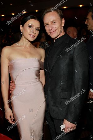 Irina Dvorovenko and Ben Daniels seen at the NYC premiere of Starz's original limited series Flesh and Bone at the NYU Skirball Center for the Performing Arts on in New York