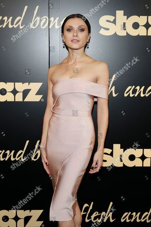 Irina Dvorovenko seen at the NYC premiere of Starz's original limited series Flesh and Bone at the NYU Skirball Center for the Performing Arts on in New York