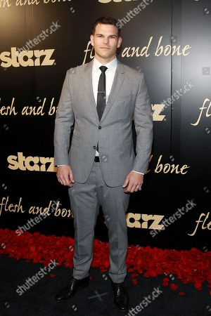 Josh Helman seen at the NYC premiere of Starz's original limited series Flesh and Bone at the NYU Skirball Center for the Performing Arts on in New York