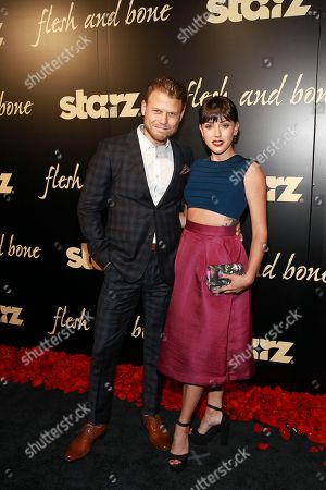 Stock Photo of Aaron Schwartz and Rachel Weiner seen at the NYC premiere of Starz's original limited series Flesh and Bone at the NYU Skirball Center for the Performing Arts on in New York