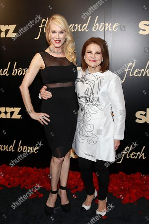 Flesh and Bone creator and executive producer, Moira Walley-Beckett and Tovah Feldshuh seen at the NYC premiere of Starz's original limited series Flesh and Bone at the NYU Skirball Center for the Performing Arts on in New York