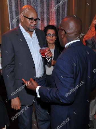 Richard Cummings Jr., left, and Ron Carter seen at the Television Academy's 66th Emmy Awards Dynamic and Diverse Nominee Reception at the Television Academy, in the NoHo Arts District in Los Angeles