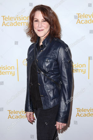"""Janet Tamaro arrives at the Television Academy's premiere screening of the documentary """"Showrunners: The Art Of Running A Show"""" at the Leonard H. Goldenson Theater on in the NoHo Arts District in Los Angeles"""