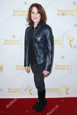 """Stock Image of Janet Tamaro arrives at the Television Academy's premiere screening of the documentary """"Showrunners: The Art Of Running A Show"""" at the Leonard H. Goldenson Theater on in the NoHo Arts District in Los Angeles"""