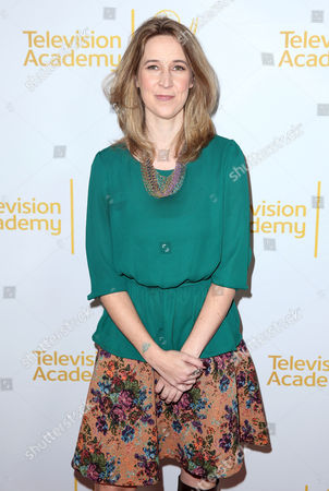 """Tara Bennett arrives at the Television Academy's premiere screening of the documentary """"Showrunners: The Art Of Running A Show"""" at the Leonard H. Goldenson Theater on in the NoHo Arts District in Los Angeles"""