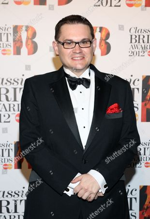 Stock Image of Paul Mealor arrives at the Royal Albert Hall for the Classical BRIT Awards on in London, UK