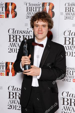 Benjamin Grosvenor seen at the Royal Albert Hall for the Classical BRIT Awards on in London, UK