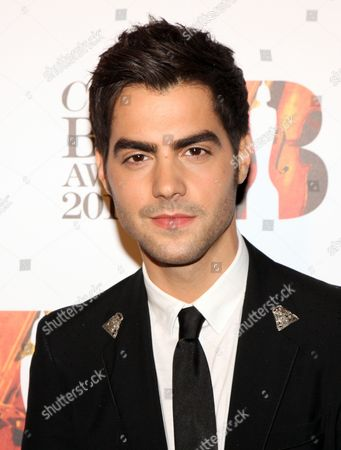 Milos Karadaglic arrives at the Royal Albert Hall for the Classical BRIT Awards on in London, UK