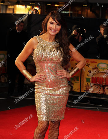 English Presenter Lizzy Cundy attends the World Premiere of The Harry Hill Movie at the Vue,Leicester Square in London on