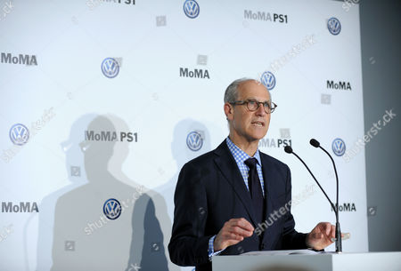Stock Photo of IMAGE DISTRIBUTED FOR MoMA - Glenn D. Lowry, Director, Museum of Modern Art, announces an expanded, two-year partnership between The Museum of Modern Art, MoMA PS1 and Volkswagen Group of America at The Museum of Modern Art, in New York