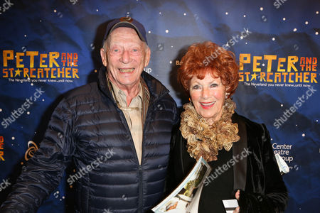 """From left, actors Alan Mandell and Marion Ross pose during the arrivals for the opening night performance of """"Peter and the Star Catcher"""" at the Center Theatre Group/Ahmanson Theatre, in Los Angeles, Calif"""