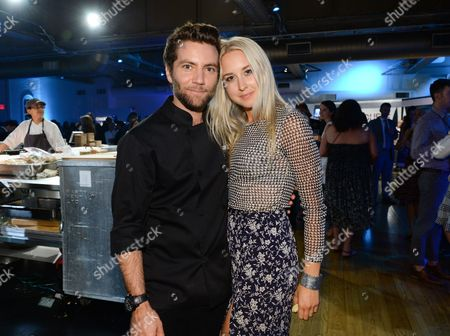 """Chef Marcel Vigneron and girlfriend Sara Panton attend the """"Top Chef Duels"""" Premiere Tasting Event, hosted by Chase Sapphire Preferred and Bravo, at the Altman Building, on in New York"""