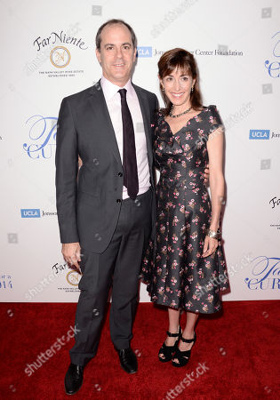 "David Nevins, president of entertainment, Showtime Networks, left, and Andrea Nevins arrive at the 19th annual ""Taste For A Cure"" at the Beverly Wilshire Hotel, in Beverly Hills, Calif"