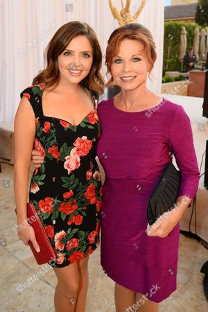 Jen Lilley, left, and Patsy Pease attend the Television Academy's 66th Emmy Awards Performers Peer Group Celebration at the Montage Beverly Hills, in Beverly Hills, Calif