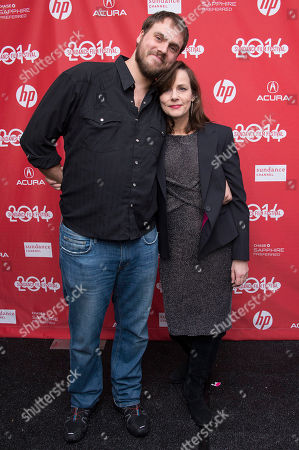 """Director Jim Mickle and Producer Linda Moran pose for a picture at the premiere for the film """"Cold in July"""" during the Sundance Film Festival, in Park City, Utah"""
