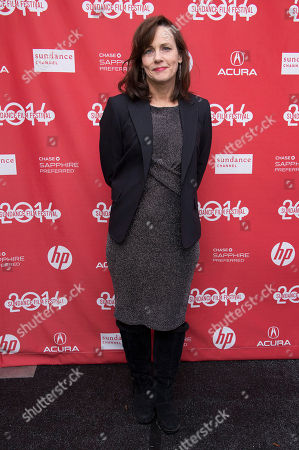 """Stock Picture of Producer Linda Moran poses for a picture at the premiere for the film """"Cold in July"""" during the Sundance Film Festival, in Park City, Utah"""
