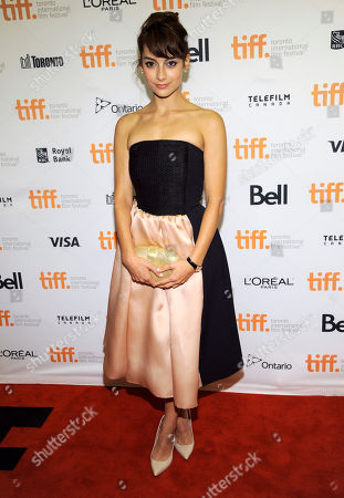 """Sophie Desmarais attends the premiere of """"Mommy"""" on day 6 of the Toronto International Film Festival at the Princess of Wales Theatre, in Toronto"""