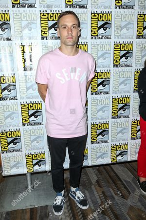 Nick Blood attends the Marvel press line on day 2 of Comic-Con International, in San Diego
