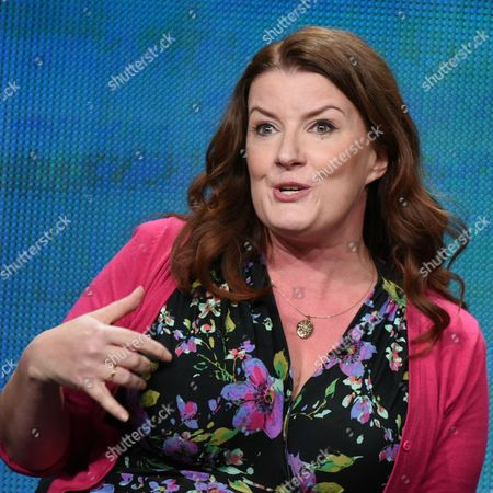 Executive Producer Diane Ruggiero Wright participates in the 'Running the Show: The Women Executive Producers of The CW' panel at The CW Television Critics Association Summer Tour at the Beverly Hilton Hotel, in Beverly Hills, Calif