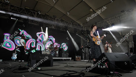 Katie Crutchfield and the band Waxahatchee performs at the Bonnaroo Music and Arts Festival, in Manchester Tenn