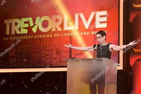 Abbe Land attends 2016 TrevorLIVE LA at the Beverly Hilton Hotel, in Beverly Hills, Calif
