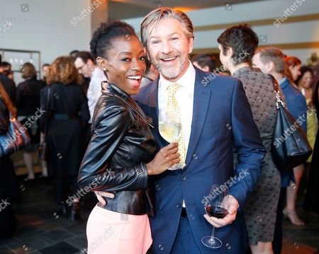 EXCLUSIVE -Sibongile Mlambo, left, and Sean Cameron Michael attend the 37th College Television Awards at the Skirball Cultural Center, in Los Angeles