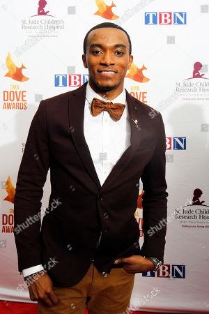 Jonathan McReynolds arrives at Lipscomb University for the Dove Awards, in Nashville, Tenn