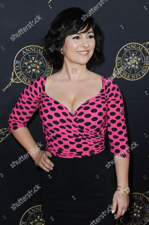 Stock Image of Maddalena Ischiale arrives at the 52nd Annual ICG Publicists Awards, in Beverly Hills, Calif