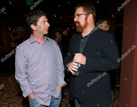 """IDA Board Vice President Adam Chapnick and RJ Cutler attend the A&E IndieFilm's """"The Imposter"""" Screening Presented by the IDA at Sundance Sunset Theater,, in Los Angeles"""