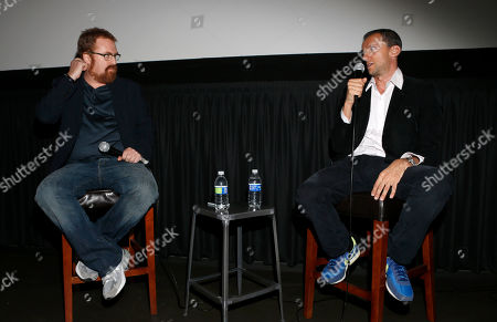 """RJ Cutler and Executive Producer John Battsek attend the A&E IndieFilm's """"The Imposter"""" Screening Presented by the IDA at Sundance Sunset Theater,, in Los Angeles"""