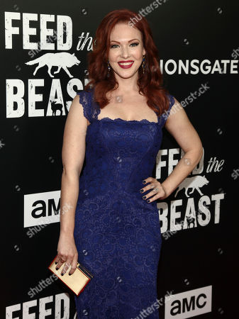 """Stock Photo of Erin Cummings attends the premiere screening of AMC's new series, """"Feed The Beast"""", at the Angelika Film Center, in New York"""