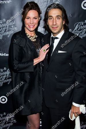 """Stock Picture of LuAnn de Lesseps and Jacques Azoulay attend the Broadway opening of """"Breakfast at Tiffany's"""" on in New York"""