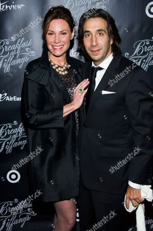 """LuAnn de Lesseps and Jacques Azoulay attend the Broadway opening of """"Breakfast at Tiffany's"""" on in New York"""