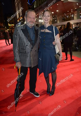 Terry Gilliam and daughter Holly Gilliam attend the European Premiere of Captain Phillips during the 57th BFI London Film Festival in partnership with American Express at Odeon West End on in London