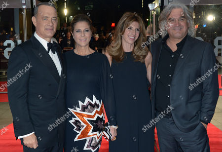 Joanna Greengrass and Paul Greengrass From left, American actor Tom Hanks and his wife Rita Wilson, English director Paul Greengrass, far right, and his wife Joanna, second from right, attend the European Premiere of Captain Phillips during the 57th BFI London Film Festival in partnership with American Express at Odeon West End on in London
