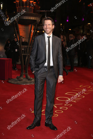 Stock Image of Andrew Tarbet poses for photographers upon arrival at the World premiere of the film Exodus: Gods And Kings in London
