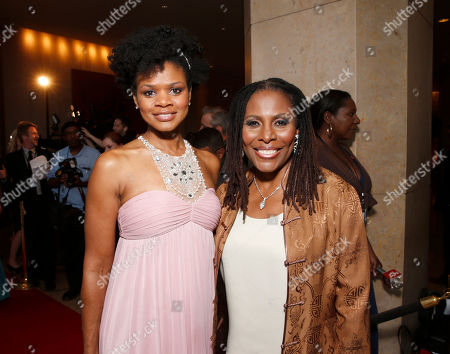 "Kimberly Elise and Brenda Russell attend the CARRY Foundation's 7th Annual ""Shall We Dance"" Gala at The Beverly Hilton Hotel on in Beverly Hills, California"