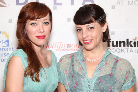 Alie Ward and Georgia Hardstark arrive during the Covenant House California's All Star Mixology Competition on at the Mondrian in West Hollywood, Calif