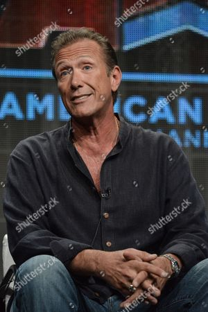"""Stock Photo of Walt Willey speaks onstage during the """"Gunsligners"""" Portion of the Discovery 2014 Summer TCA, in Beverly Hills, Calif"""